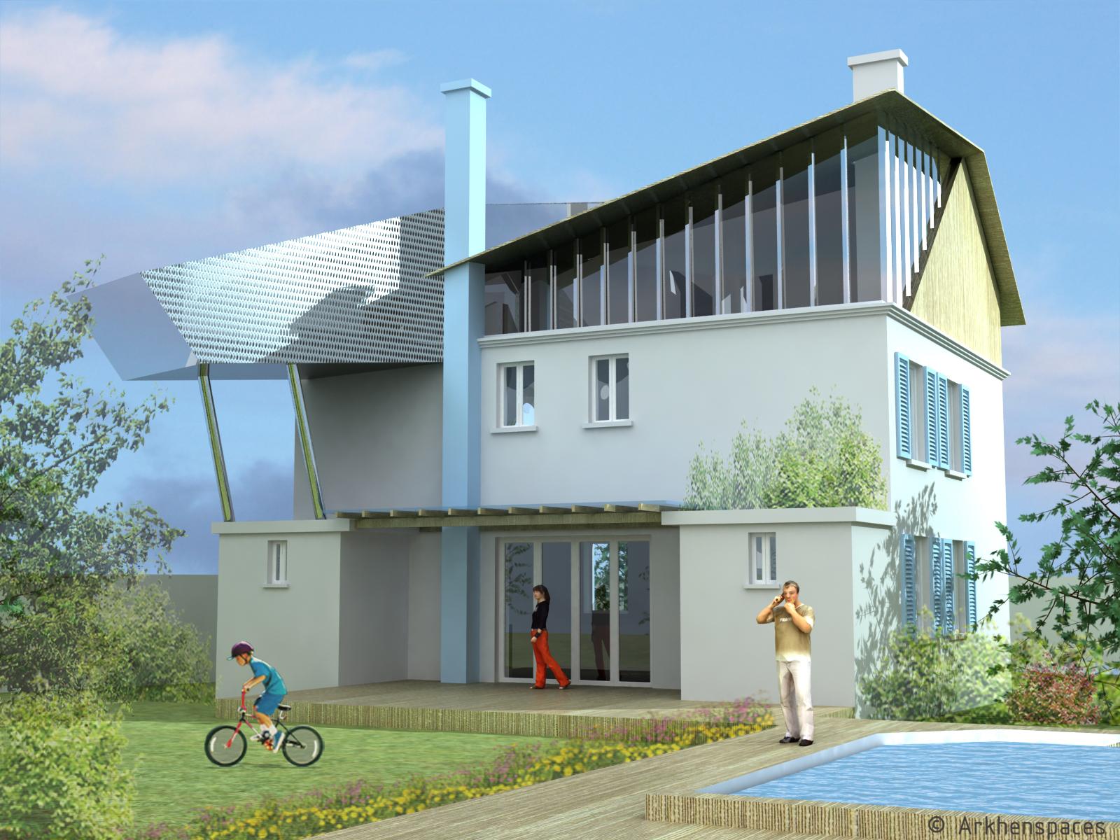 2010 2012 villa d viroflay france arkhenspaces for Piscine viroflay