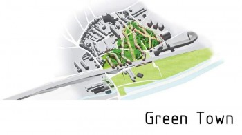 The green town