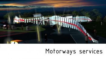 motorway services by arkhenspaces