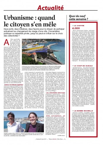 Newspaper La Tribune : article about the southern star by Arkhenspaces