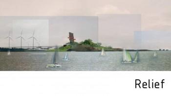 Relief dans la baie d'Amsterdam