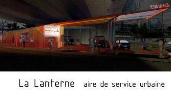 la-lanterne, aire de service urbaine par Arkhenspaces