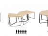 modular furniture for co-working space by Arkhenspaces